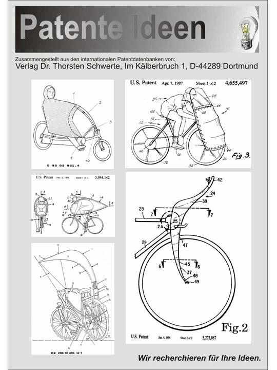 fahrrad bike trike wetterschutz selbst bauen 55 patente ebay. Black Bedroom Furniture Sets. Home Design Ideas